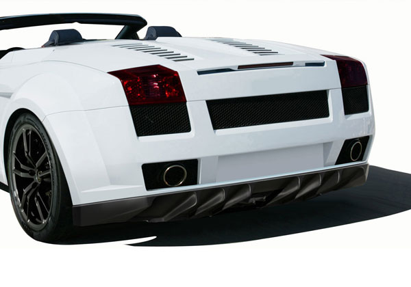 Aero Function 109604: 2004-2008 Lamborghini Gallardo AF-1 Wide Body Rear Bumper Cover ( GFK ) - 1 Piece