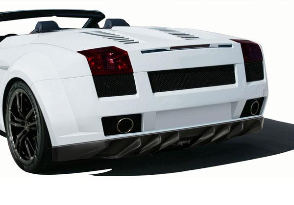 Aero Function 109604 |  Lamborghini Gallardo AF-1 Wide Body Rear Bumper Cover ( GFK ) 1-Piece; 2004-2008
