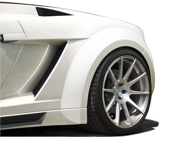 Aero Function 109606    2004-2008 Lamborghini Gallardo AF-1 Wide Body Rear Fender Flares ( GFK ) - 2 Piece