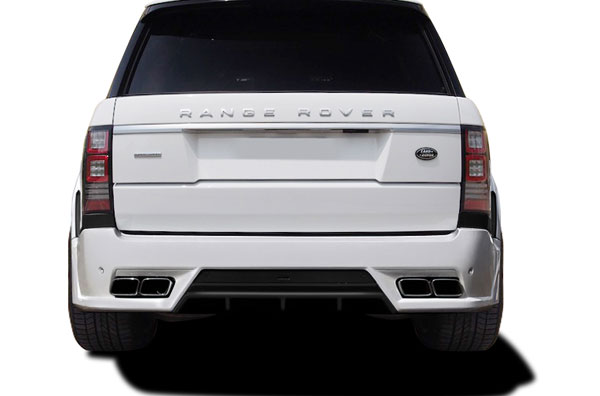 Aero Function 109706:  2013-2015 Land Rover Range Rover AF-1 Wide Body Rear Bumper Cover ( PUR-RIM ) - 1 Piece