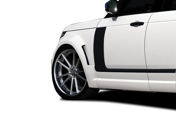 Aero Function 109708: 2013-2015 Land Rover Range Rover AF-1 Wide Body Front Fender Flares ( PUR-RIM ) - 2 Piece
