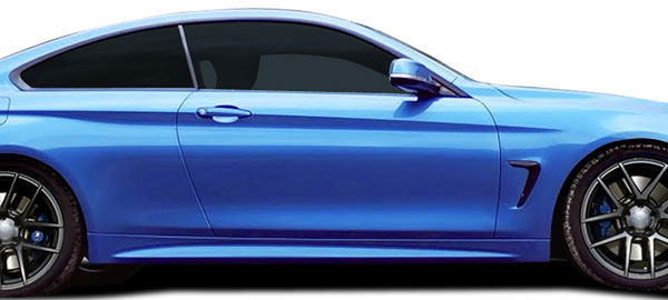 Couture 109716 | BMW 4 Series F32 Couture M Sport Look Side Skirt Rocker Panels 2-Piece; 2014-2016