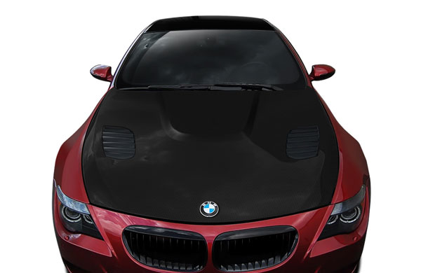 Aero Function 109741:  2004-2010 BMW 6 Series M6 E63 E64 Carbon AF-1 Hood ( CFP ) - 1 Piece