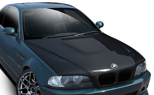 Aero Function 109742: 2001-2006 BMW M3 E46 Carbon AF-2 Hood ( CFP )- 1 Piece