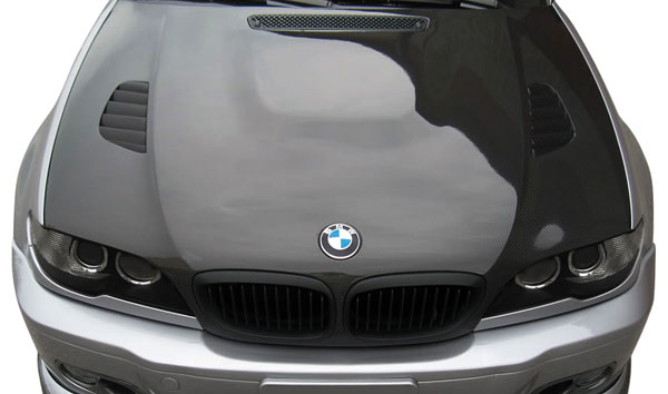Aero Function 109743:  2004-2006 BMW 3 Series E46 2DR Carbon AF-2 Hood ( CFP ) - 1 Piece