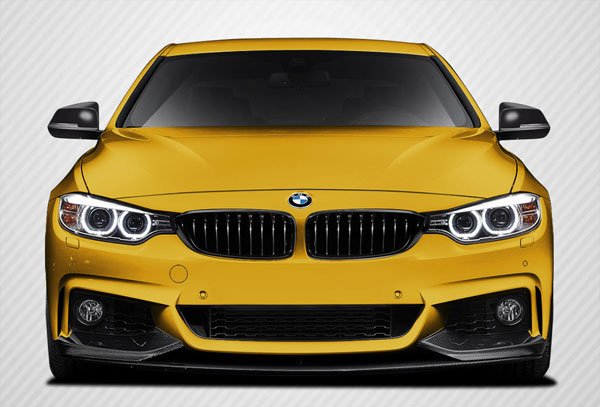 Carbon Creations 113148: 2014-2016 BMW 4 Series F32  DriTech M Performance Look Front Spoiler Splitters - 3 Piece