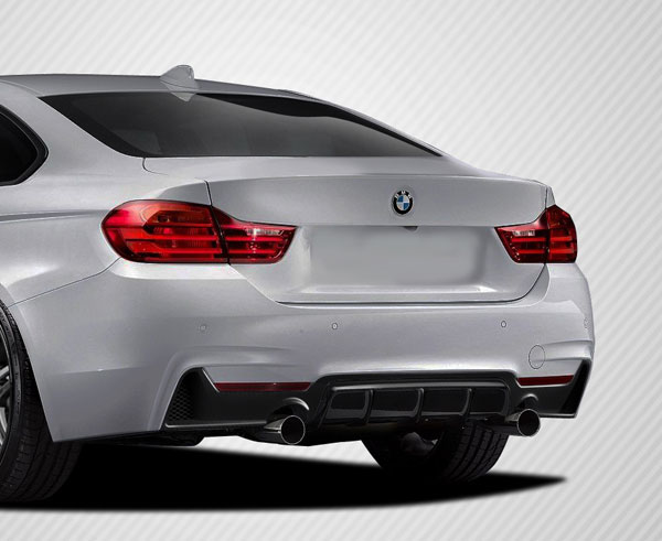 Carbon Creations 113149: 2014-2016 BMW 4 Series F32 Carbon Creations DriTech M Performance Look Rear Diffuser - 1 Piece