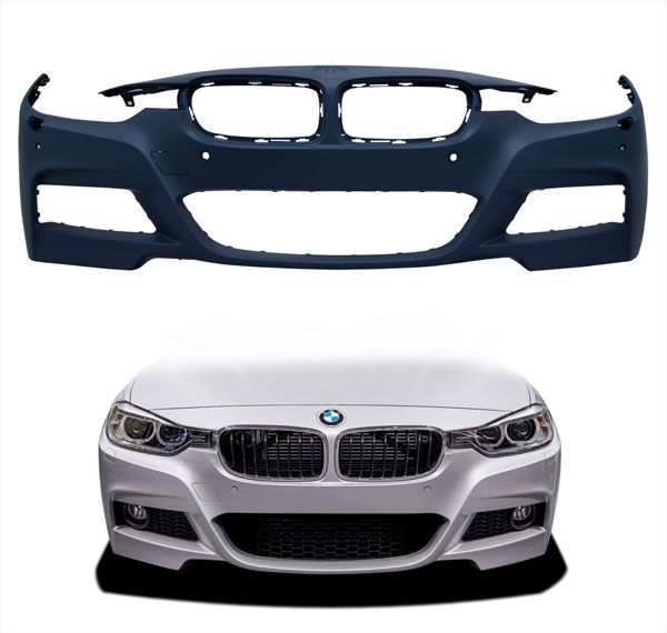 Vaero 109845 | BMW 3 Series F30 Vaero M Sport Look Front Bumper Cover ( with PDC, with Park Aid, with Washer, with Camera ) 1-Piece; 2012-2016