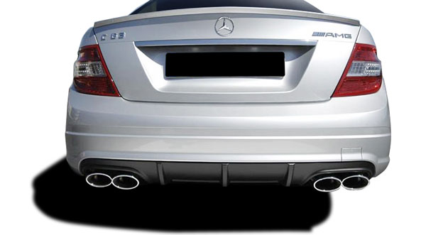Vaero (109860) 2008-2014 Mercedes C Class W204 Vaero C63 V1 Look Rear Bumper Cover ( without PDC ) - 1 Piece
