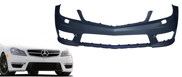 Vaero 109863: 2012-2014 Mercedes C Class W204 Vaero C63 Look Conversion Front Bumper Cover ( without PDC ) - 1 Piece