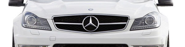 Vaero 109864: 2012-2014 Mercedes C Class W204  C63 Look Conversion Grille and Mounting Accessories - 1 Piece