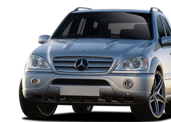 Vaero 109871: 1998-2005 Mercedes ML Class W163  AMG Sport Look Front Bumper Cover ( with PDC ) - 1 Piece