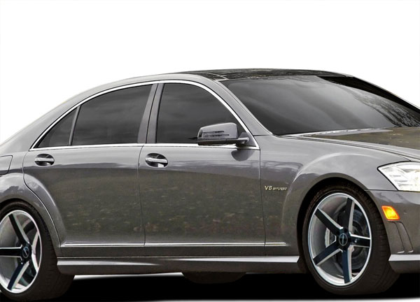 Vaero 109878: 2007-2013 Mercedes S Class W221 Vaero S63 Look Side Skirt Rocker Panels - 2 Piece