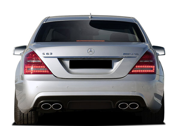 Vaero 109879: 2010-2013 Mercedes S Class W221 Vaero S63 Look Rear Bumper Cover ( with PDC ) - 1 Piece
