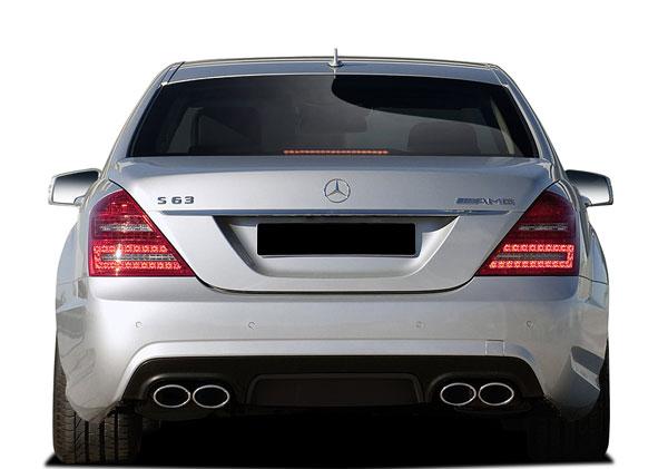 Vaero 109879 | Mercedes S Class W221 Vaero S63 Look Rear Bumper Cover ( with PDC ) 1-Piece; 2010-2013