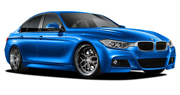 Vaero 109896: 2012-2016 BMW 3 Series 328i F30 Vaero M Sport Look Kit ( without PDC , without Park Aid , with Washer , without Camera ) - 5 Piece