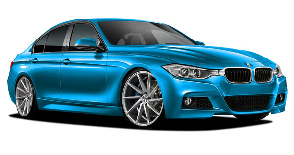 Vaero (109900) 2012-2016 BMW 3 Series 328i F30 with Quad Exhaust Vaero M Sport Look Kit ( without PDC , without Park Aid , with Washer , without Camera ) - 5 Piece