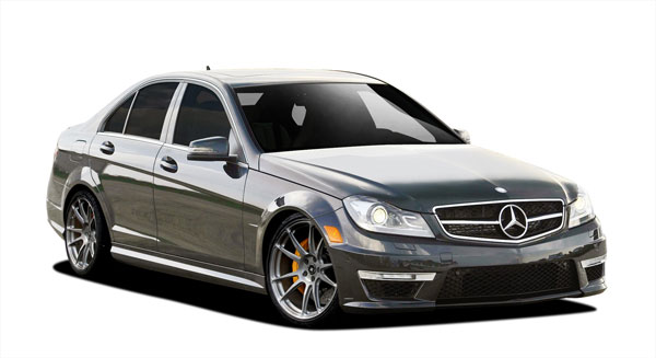 Vaero 109903: 2012-2014 Mercedes C Class C250 W204  C63 Look Conversion Kit ( with PDC ) - 9 Piece