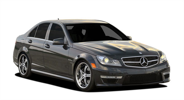 Vaero 109907: 2012-2014 Mercedes C Class C63 W204 Vaero C63 Look Conversion Kit ( with PDC ) - 9 Piece
