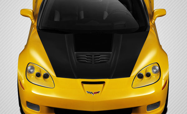 Carbon Creations 109917: 2005-2013 Chevrolet Corvette C6 Carbon Creations Stingray Z Hood - 1 Piece