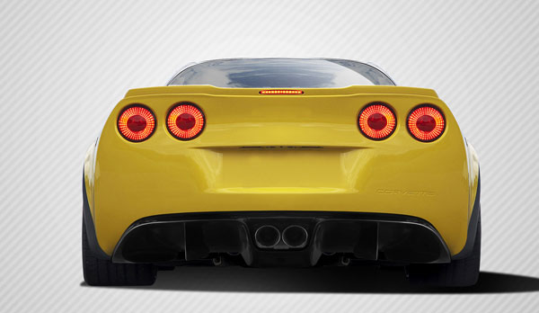 Carbon Creations (109922) 2005-2013 Chevrolet Corvette C6 Carbon Creations GT Racing Rear Diffuser - 5 Piece