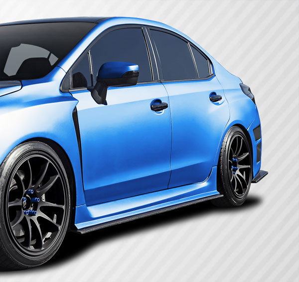 Carbon Creations 109933 | Subaru WRX Carbon Creations NBR Concept Side Splitters 2-Piece; 2015-2016