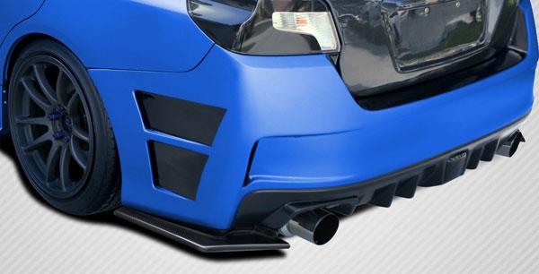 Carbon Creations 109934   Subaru WRX Carbon Creations NBR Concept Rear Splitters 2-Piece; 2015-2016