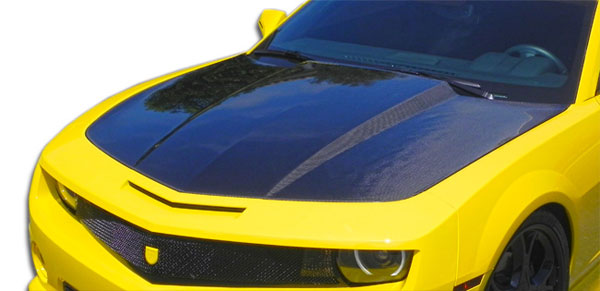 Carbon Creations 106346: 2010-2015 Chevrolet Camaro Carbon Creations OEM Hood - 1 Piece