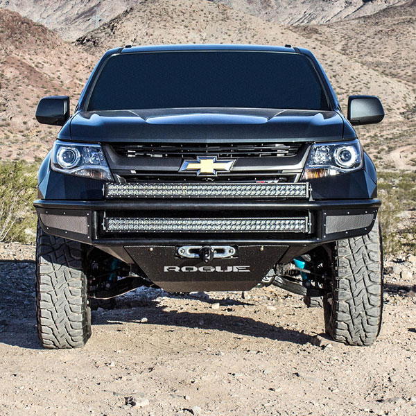 Rogue Racing 111715-91-03-DS |  Chevy Colorado Rebel Front Bumper 2015-17+ - DIMPLE SKINS; 2015-2017