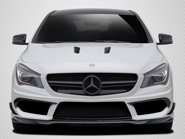 Carbon Creations 112023: 2014-2015 Mercedes CLA Class Carbon Creations Black Series Look Front Bumper Accessories - 4 Piece