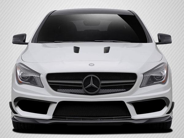 Carbon Creations 112023 | Mercedes CLA Class Carbon Creations Black Series Look Front Bumper Accessories 4-Piece; 2014-2015