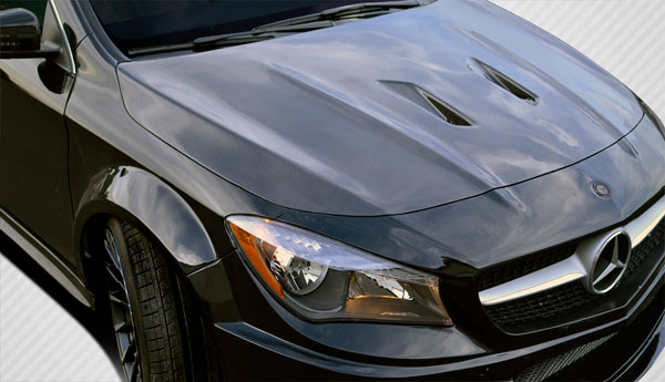Carbon Creations 112025 | Mercedes CLA Class Carbon Creations Black Series Look Hood 1-Piece; 2014-2015