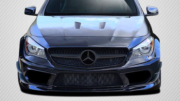 Carbon Creations 112026: 2014-2015 Mercedes CLA Class  Black Series Look Wide Body Front Bumper Accessories - 6 Piece
