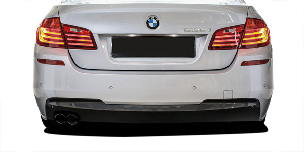 Vaero (112027) 2011-2016 BMW 5 Series 528i F10 4DR Vaero M Sport Look Rear Bumper Cover ( with PDC ) - 2 Piece