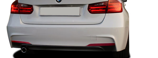 Vaero 112034: 2012-2016 BMW 3 Series 320i F30  M Sport Look Rear Bumper Cover ( without PDC ) - 2 Piece