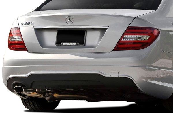 Vaero (112042) 2008-2014 Mercedes C Class C250 W204 Vaero C63 V2 Look Rear Bumper Cover ( without PDC ) - 2 Piece