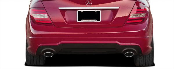 Vaero 112043: 2008-2014 Mercedes C Class C350 W204 Vaero C63 V2 Look Rear Bumper Cover ( with PDC ) - 2 Piece