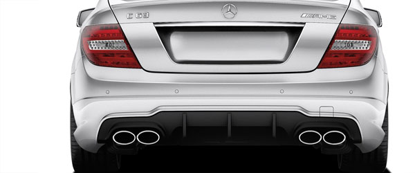 Vaero 112045 | Mercedes C Class C63 W204 Vaero C63 V2 Look Rear Bumper Cover ( with PDC ) 2-Piece; 2008-2014