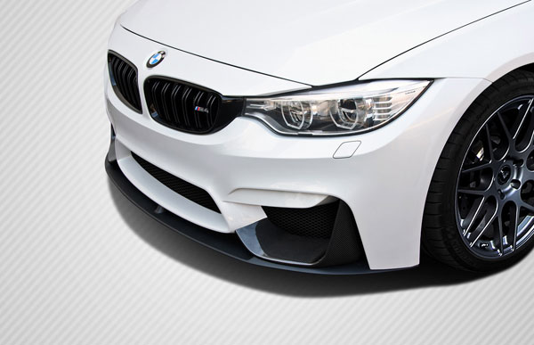 Carbon Creations 112245: 2014-2016 BMW M3 F80 / F82 - F83 M4 Carbon Creations M Performance Look Front Add Ons - 2 Piece