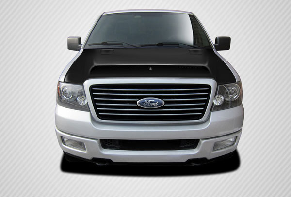Carbon Creations 112247   Ford F-150 Carbon Creations Super Snake Look Hood 1-Piece; 2004-2008