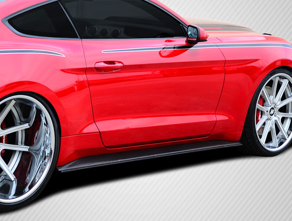Carbon Creations 112249 | Ford Mustang Carbon Creations GT Concept Side Skirt Rocker Panels 2-Piece; 2015-2016