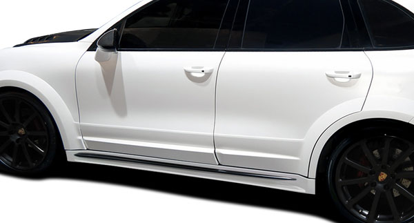 Aero Function 112278: 2011-2014 Porsche Cayenne AF-4 Wide Body Side Skirt Rocker Panels ( GFK ) - 2 Piece