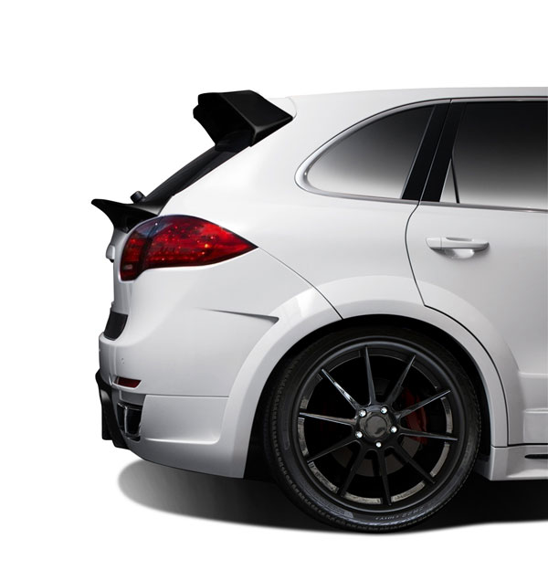 Aero Function 112282: 2011-2014 Porsche Cayenne AF-4 Wide Body Rear Fender Flares ( GFK ) - 4 Piece