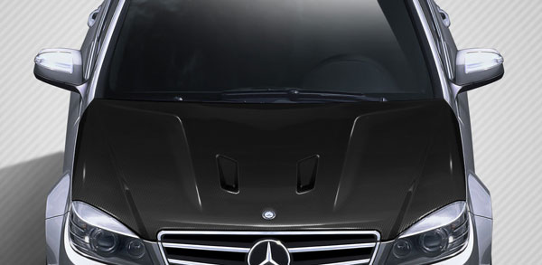 Carbon Creations 112319 | Mercedes C Class W204 Carbon Creations Black Series Look Hood 1-Piece; 2008-2011