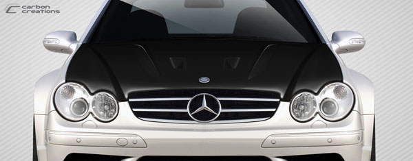 Carbon Creations 112321 | Mercedes CLK W209 Carbon Creations Black Series Look Hood 1-Piece; 2003-2009