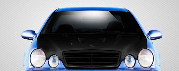 Carbon Creations 112322 | Mercedes CLK W208 Carbon Creations Black Series Look Hood 1-Piece; 1998-2002