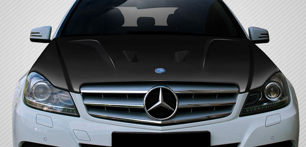 Carbon Creations 112323: 2012-2014 Mercedes C Class W204 Carbon Creations Black Series Look Hood - 1 Piece