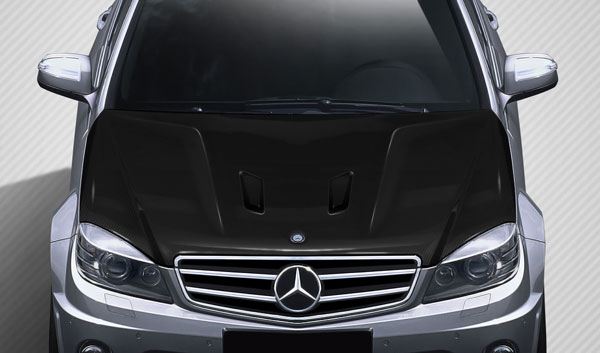 Carbon Creations 112324: 2008-2011 Mercedes C63 W204 Carbon Creations Black Series Look Hood - 1 Piece