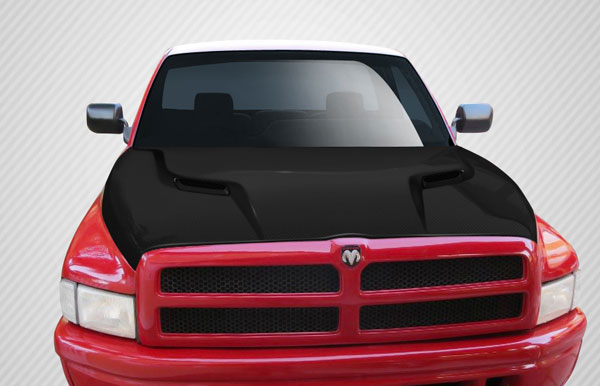 Carbon Creations (112327) 1994-2001 Dodge Ram Carbon Creations MP-R Hood - 1 Piece