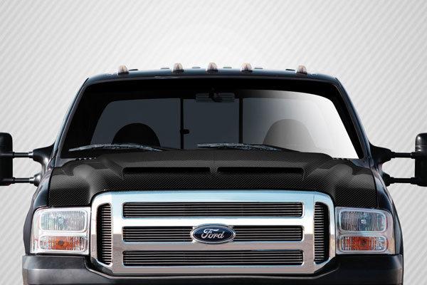 Carbon Creations 112328: 1999-2007 Ford Super Duty F250 F350 F450 F550 / 2000-2005 Ford Excursion  CV-X Hood - 1 Piece